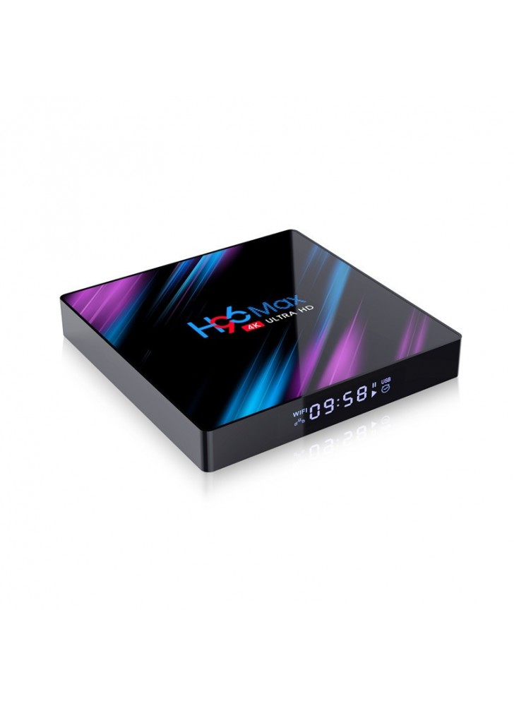 Android9.0 tv box H96 max rk3318 with time display
