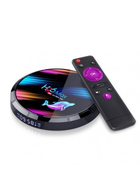 S905X3 rounded mini android tv box h96 max x3 suppliers