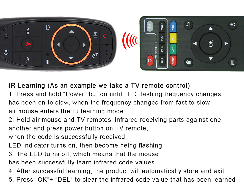 G10 air mouse TV BOX Universal remote control