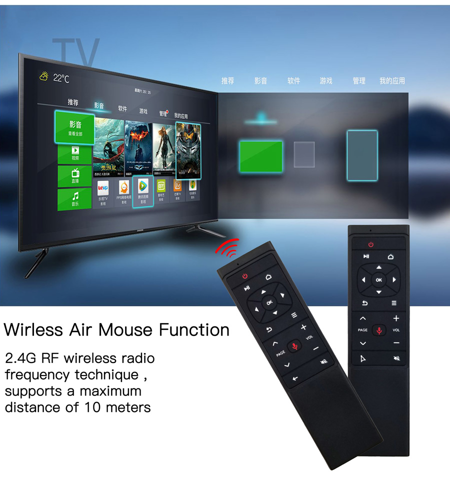 Multi-purpose remote controls your tv box