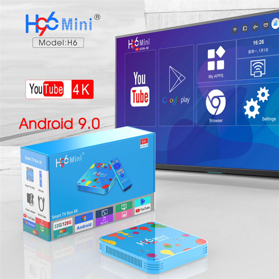 2019 Best H96 mini Allwinner H6 family tv box