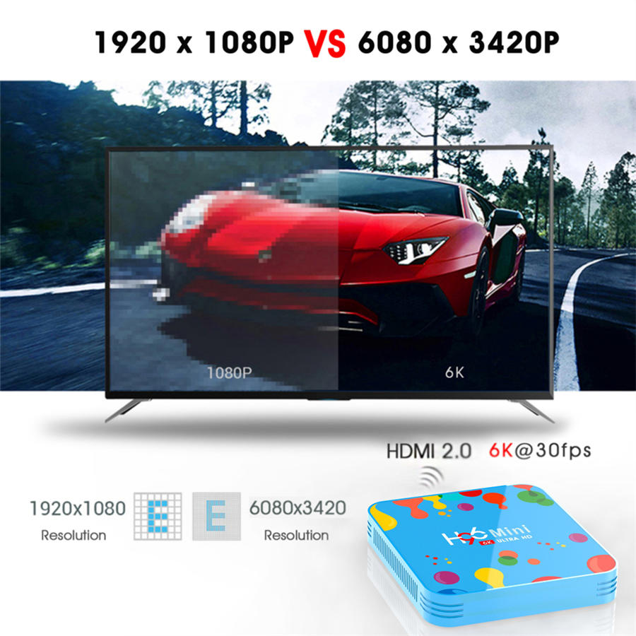 Quad Core 64 bit 6K hd media player ott box