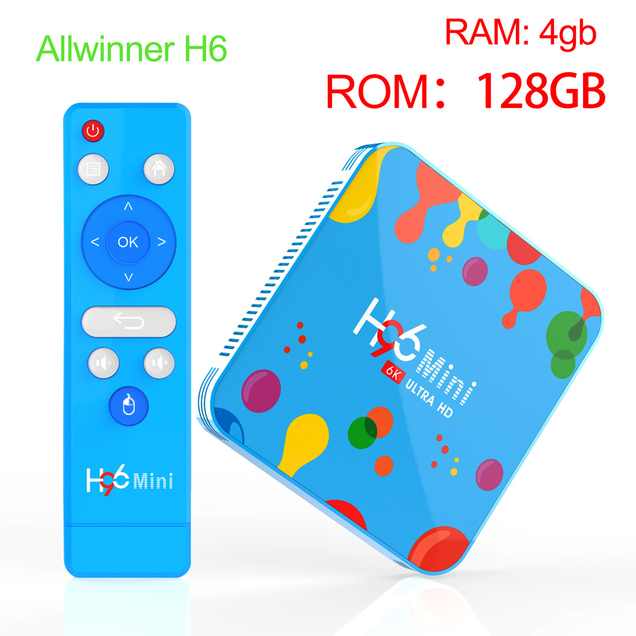 Big-ROM 128GB Android tv box for Allwinner H6