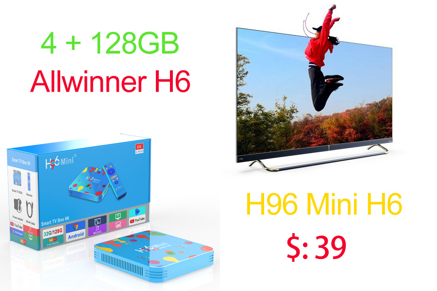 H96 mini h6 128GB smart tv box