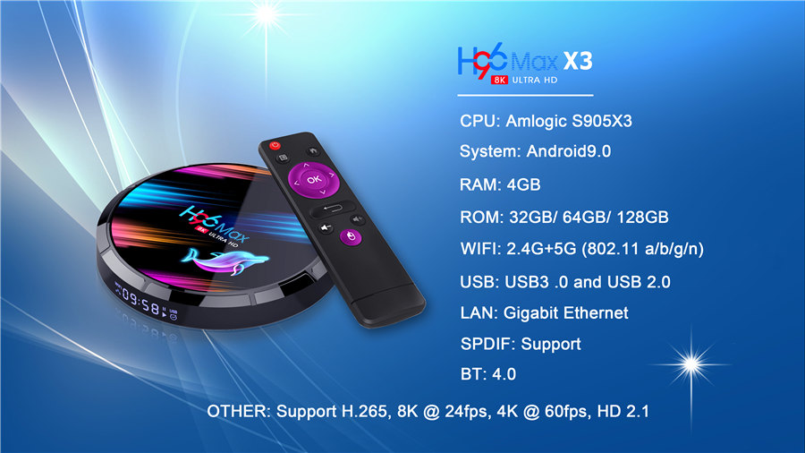 H96 max x3 S905X3 rounded mini android tv box