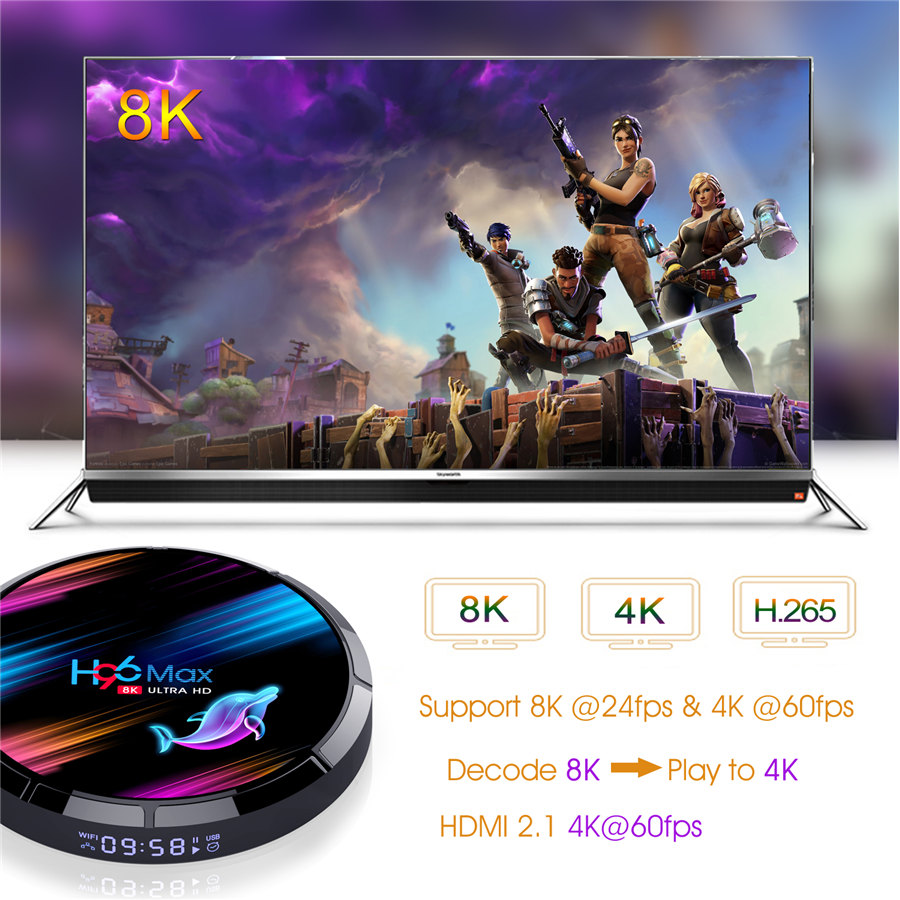 ROM 128GB tv box s905x3 H96 max x3 android 9.0