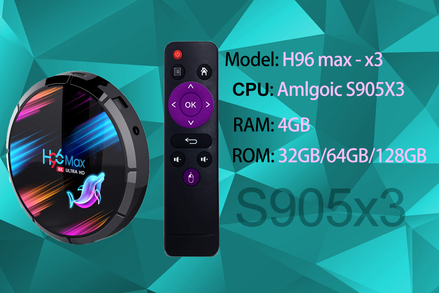 latest design Amlogic S905X3 tv box