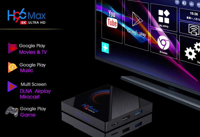 New Android 10 tv box custom service with H96 max h616