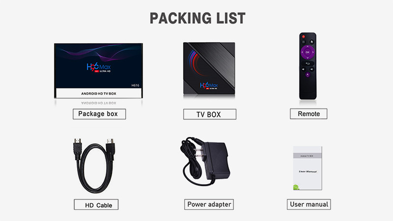 6K tv box Streaming media on Android packing list