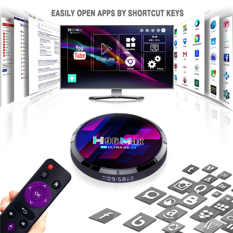 where buy amlogic s905x4 android tv box 4K 4GB and 32GB