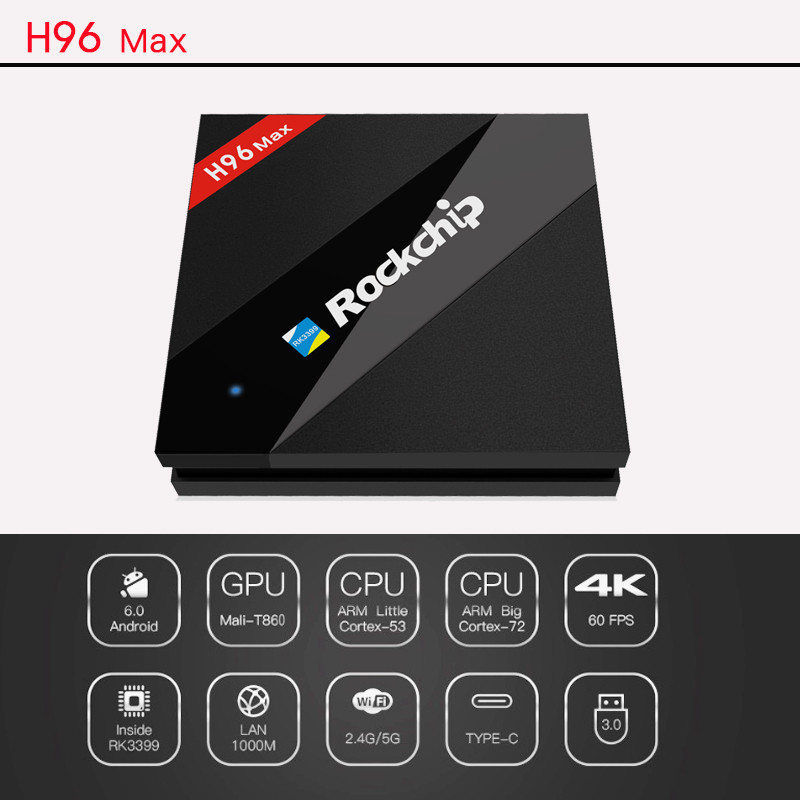 H96 MAX 4GB RAM google video smart tv box