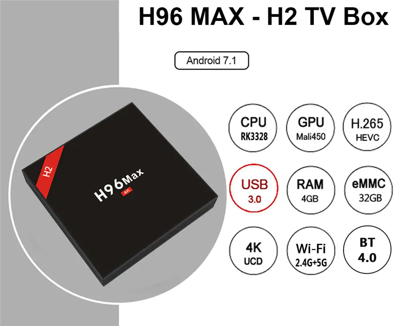 H96 MAX 4GB stream smart tv box