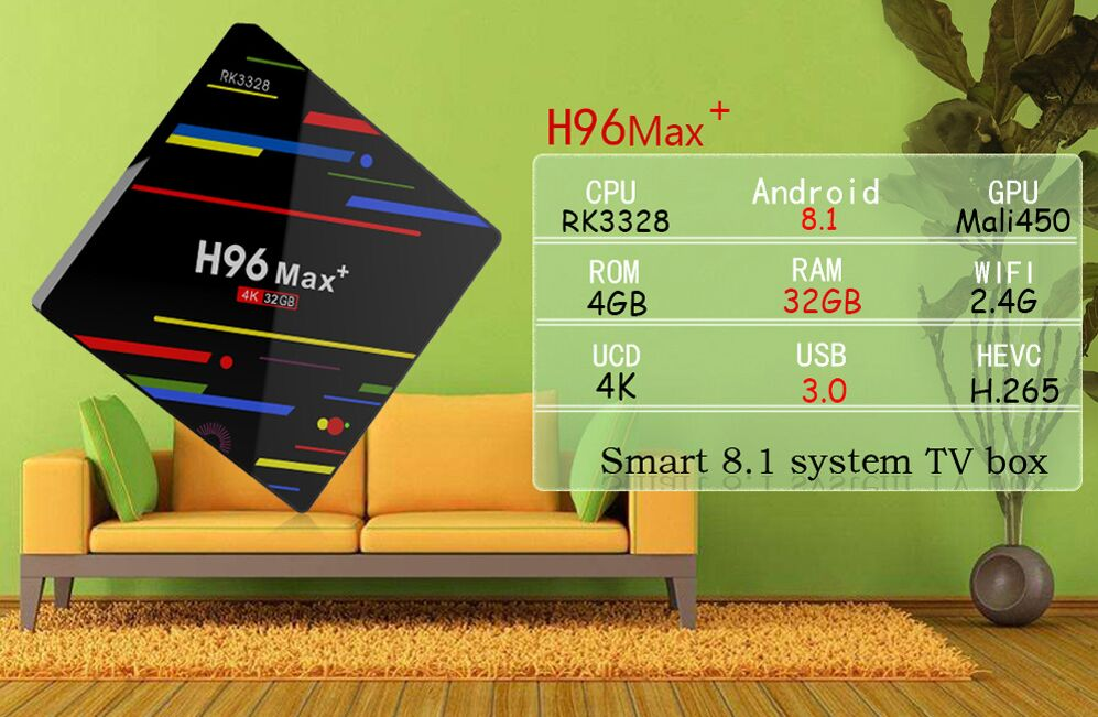 H96 MAX PLUS NEWST ANDROID8.1 4k smart tv box