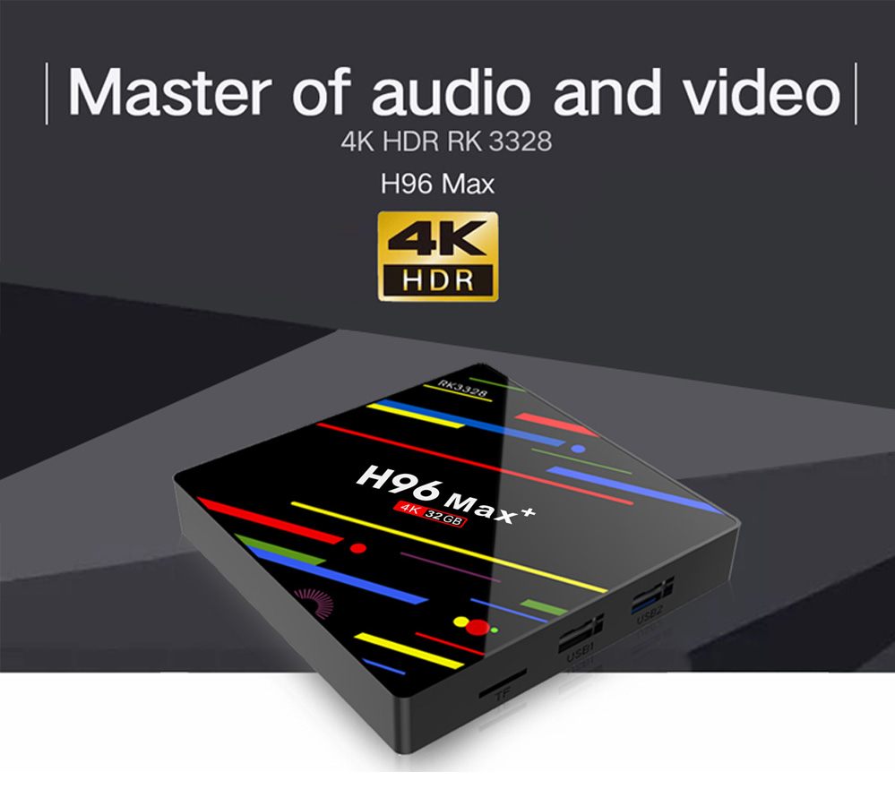 H96 MAX plus OS android8.1 google search box tv box