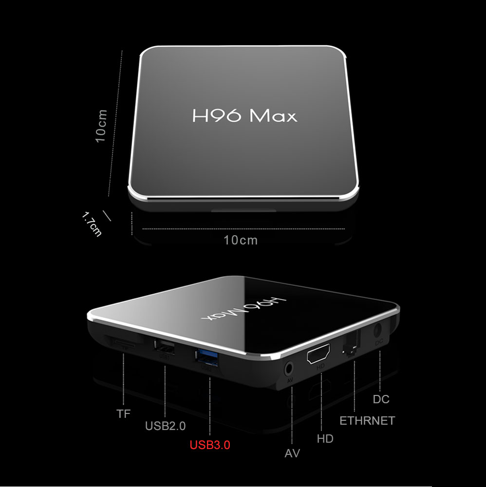Voice remote control 4K Android TV h96 max x2 tv box