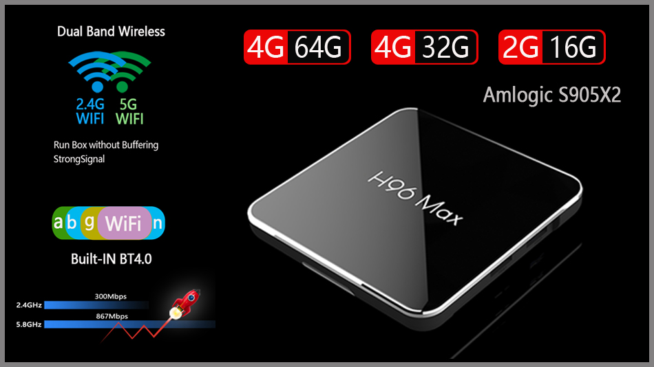 H96 MAX S905 X2 android tv box