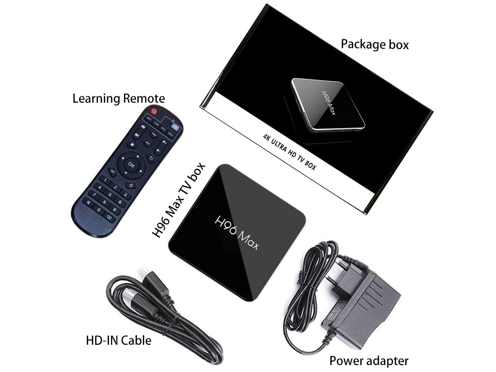 Shopping internet tv Amlogic S905X2 H96 Max x2 tv box preiswert
