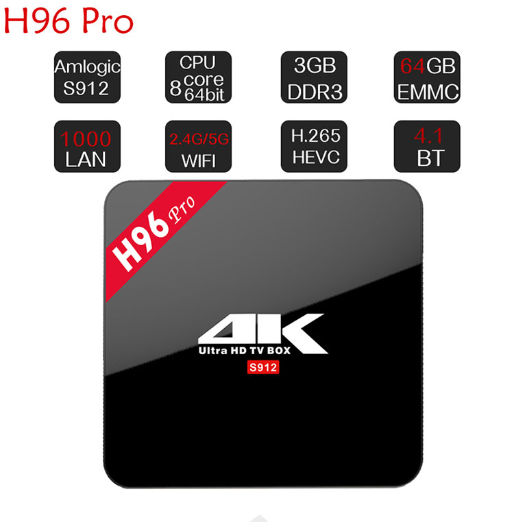 2018 top 2 smart tv box h96 pro