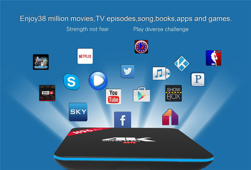 H96 Pro android 8.1 hd media player set top box