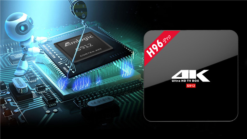 H96 Pro OS android8.1 hd media player ott box