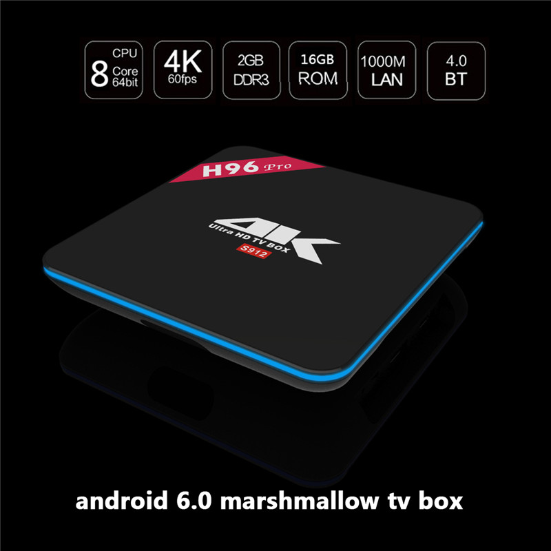 H96 Pro NEWST ANDROID8.1 google video smart tv box