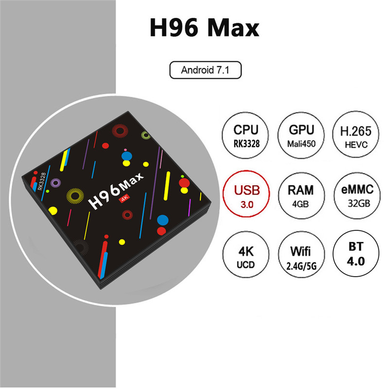 H96 MAX H2 4GB HD google tv box