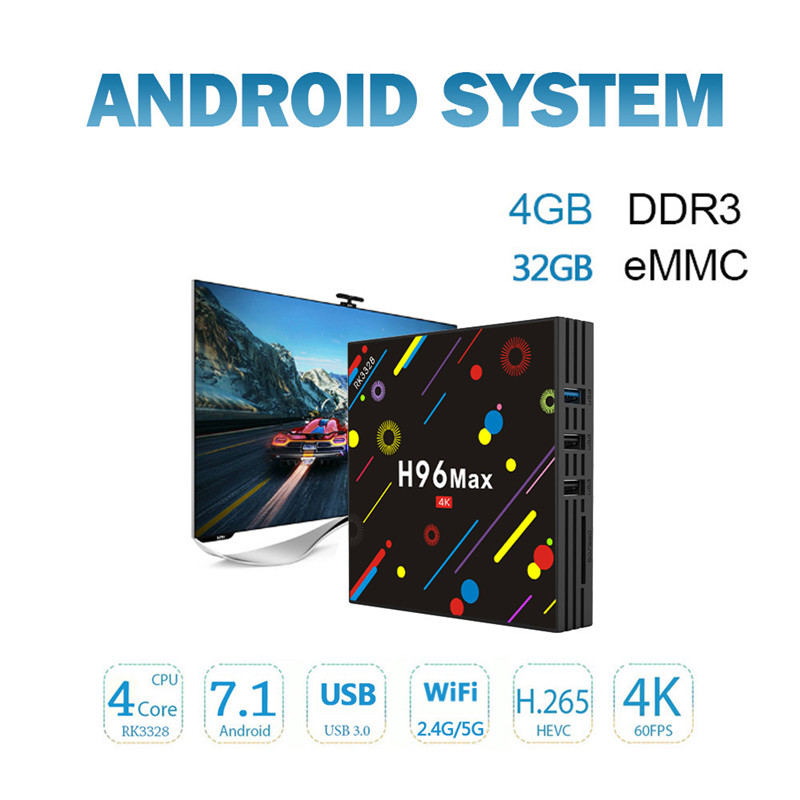 H96 MAX H2 4GB RAM google smart tv box