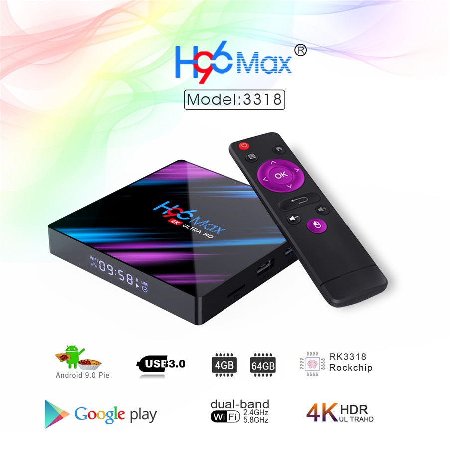 tv box H96 max rk3318 android 9.0 how to buy