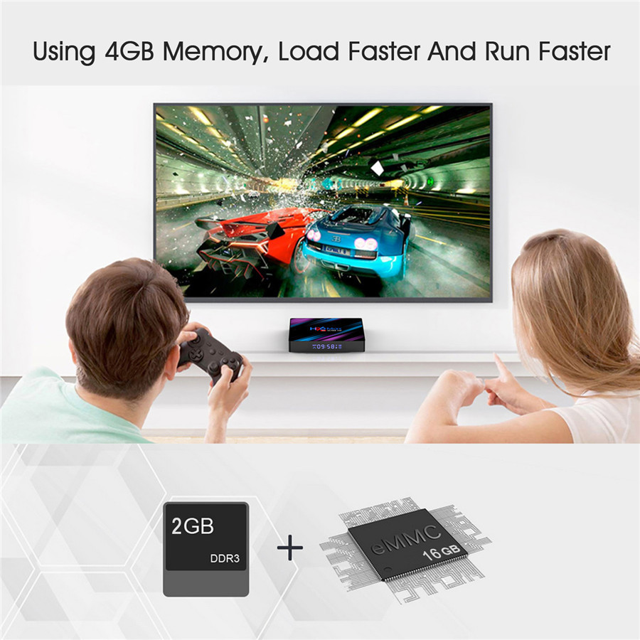 2019 RK3318 Quad Core h96 max DDR3 2GB smart tv box