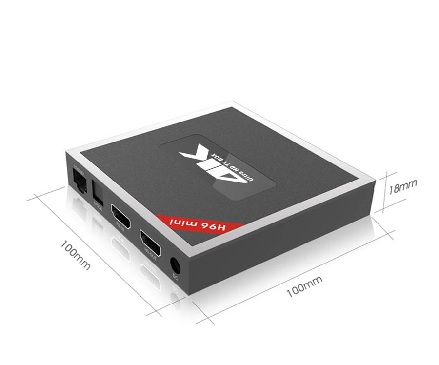 HDMI Input android 7.1 tv box h96mini T962E