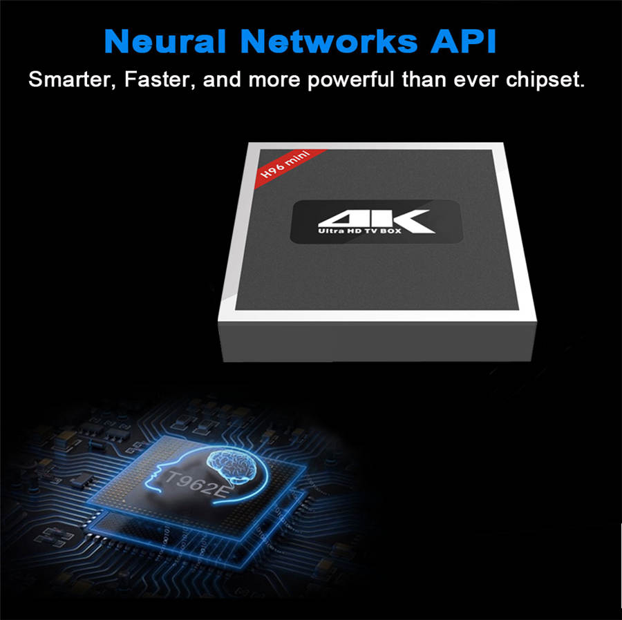 4K Dual HD T962E tv box for KODI