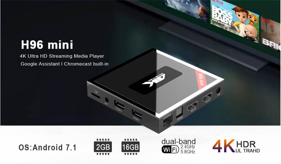 Amlogic T962E 2GB RAM H96 Mini Double WiFi TV Box