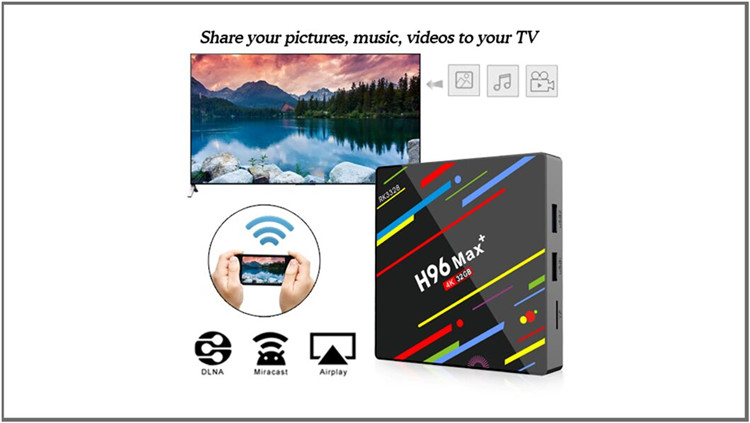 Best dual wifi smart Android8.1 H96 Max plus tv box wholesale