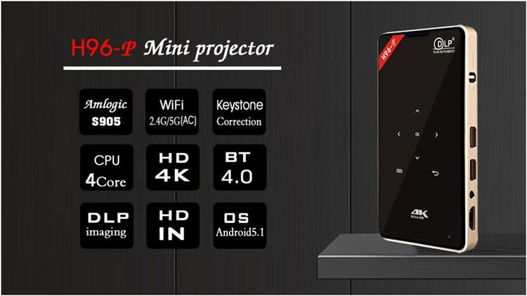 H96-P Mini Pocket Home WIFI Android Theater Projector