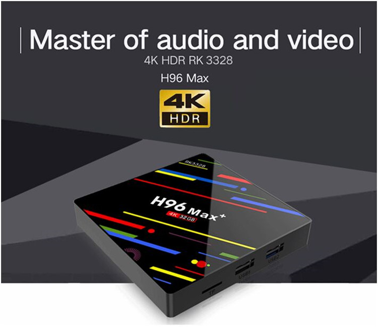 4K HD dual wifi smart Android H96 Max plus tv box wholesale