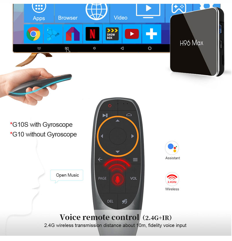 China can buy Voice remote control smart tv box