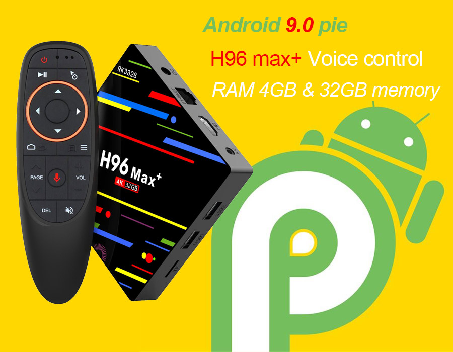 H96 Max+ android 9.0 tv box Ultra HD 4K | Kodi 18