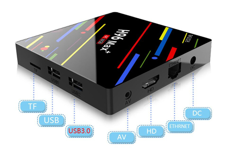 rk3328 h96 max+ smart tv android box