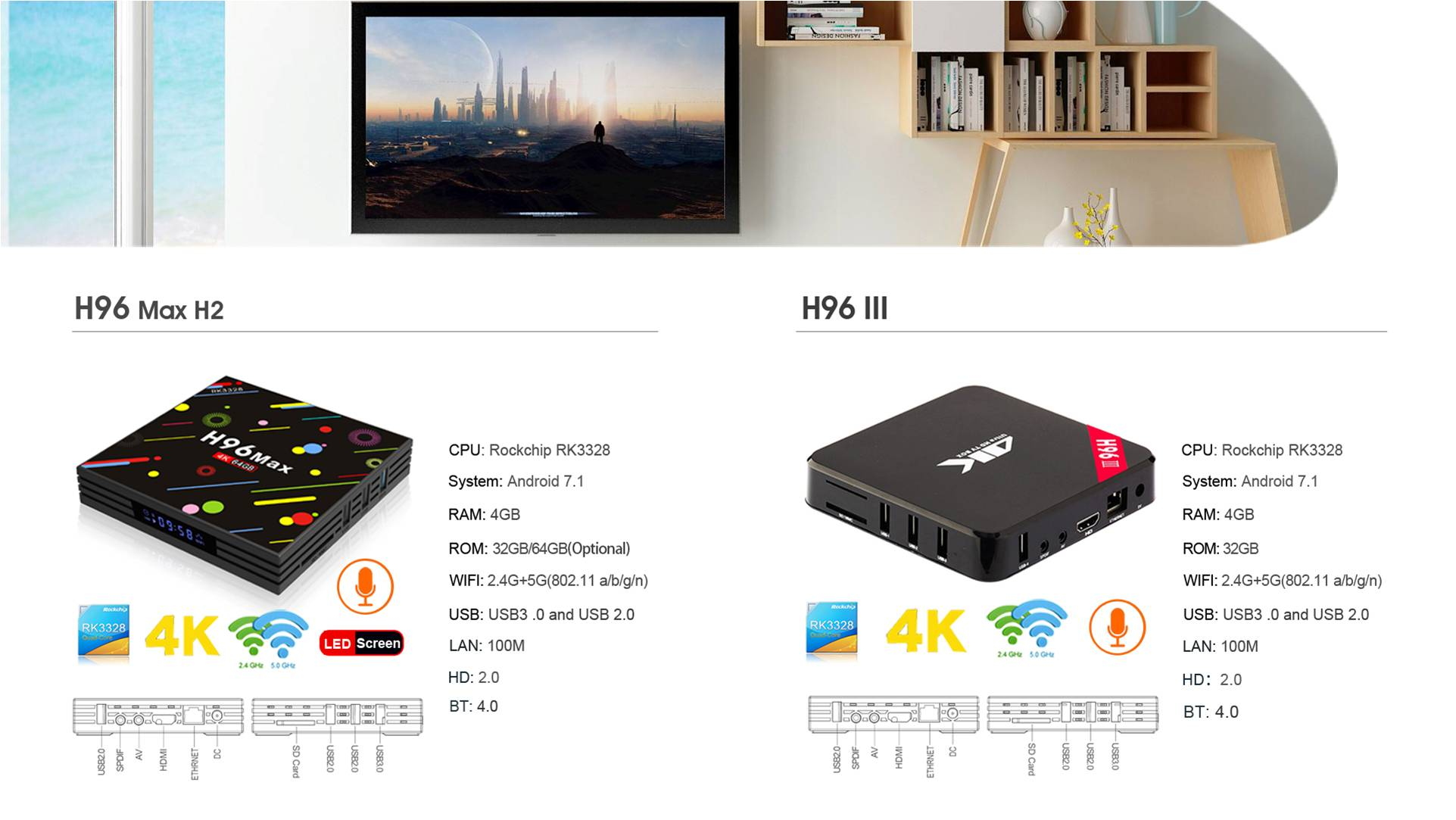 Netflix in HD 4k smart android tv box