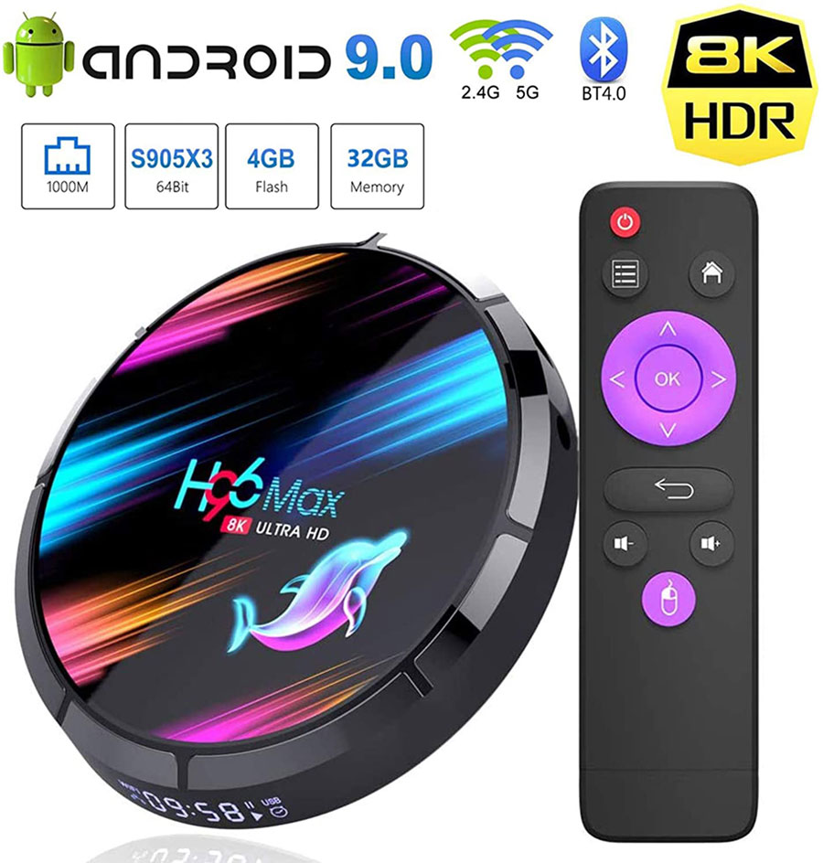 H96 Max X3 android 11 tv box channels