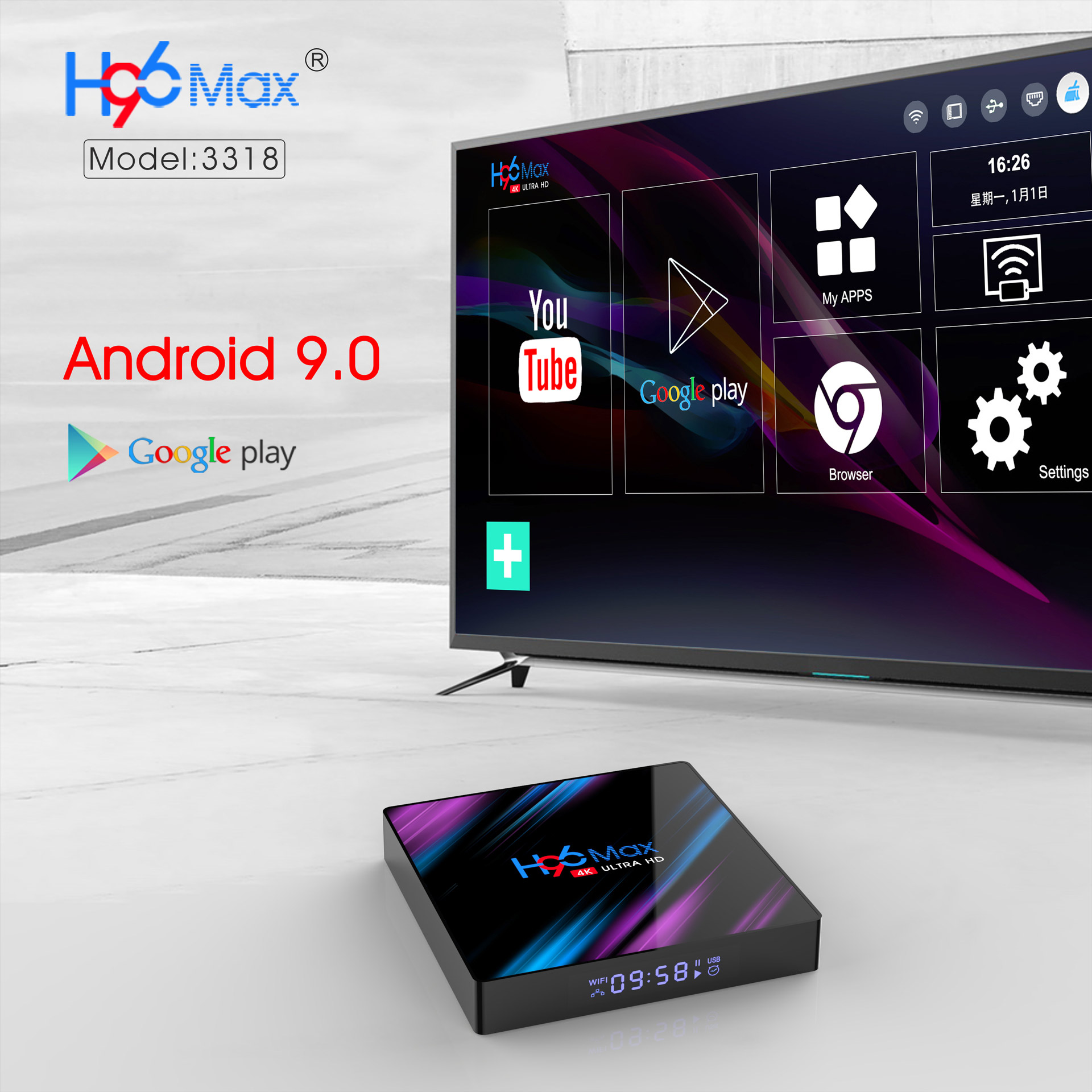 newest android 9.0 tv box 2019