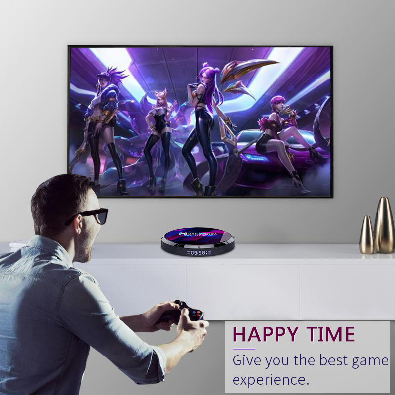 H96 max x4 amlogic s905x4 android tv box for playing games