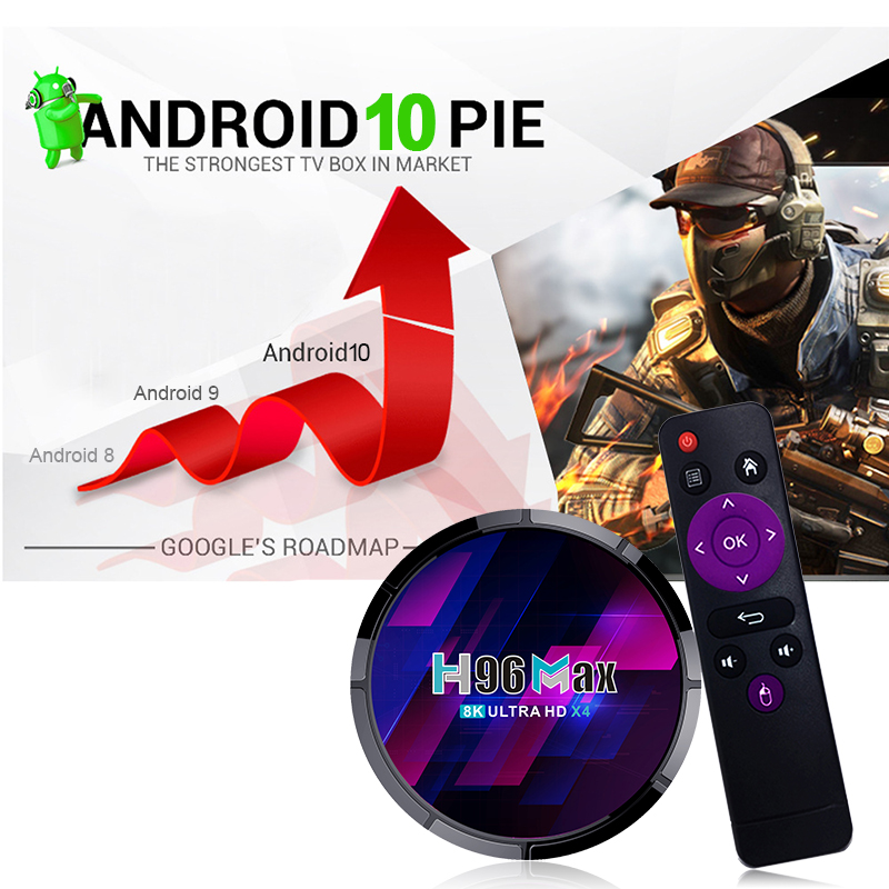 H96 max x4 android10 s905x4 android tv box