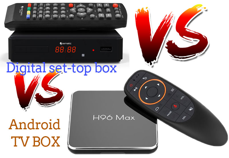What is the difference between the android TV box and the digital set-top box?