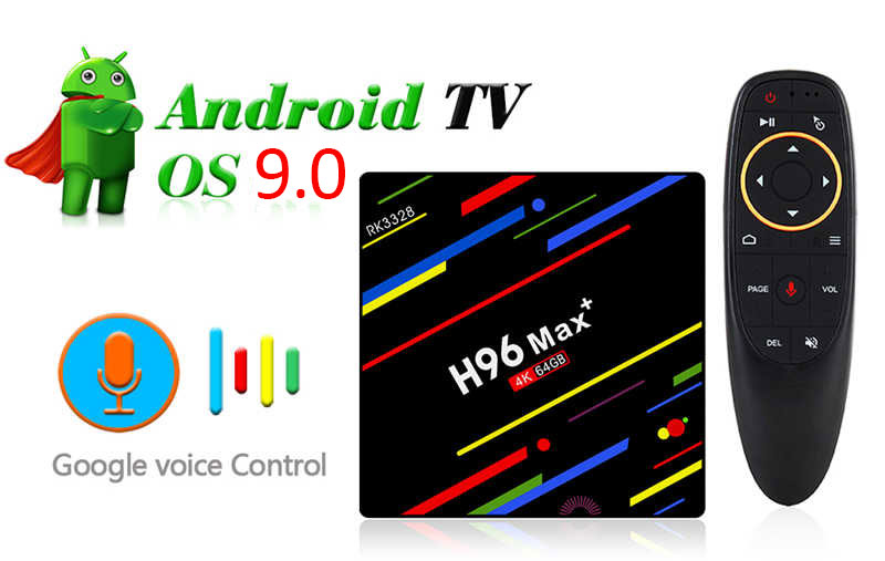 voice  control android 9.0 tv box for h96 max plus