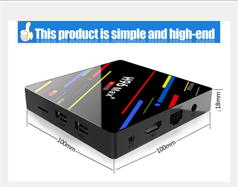 RK3328 android90 google tv box kodi size