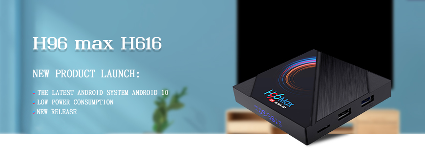Newest android 10 2GB tv box H96 max H616
