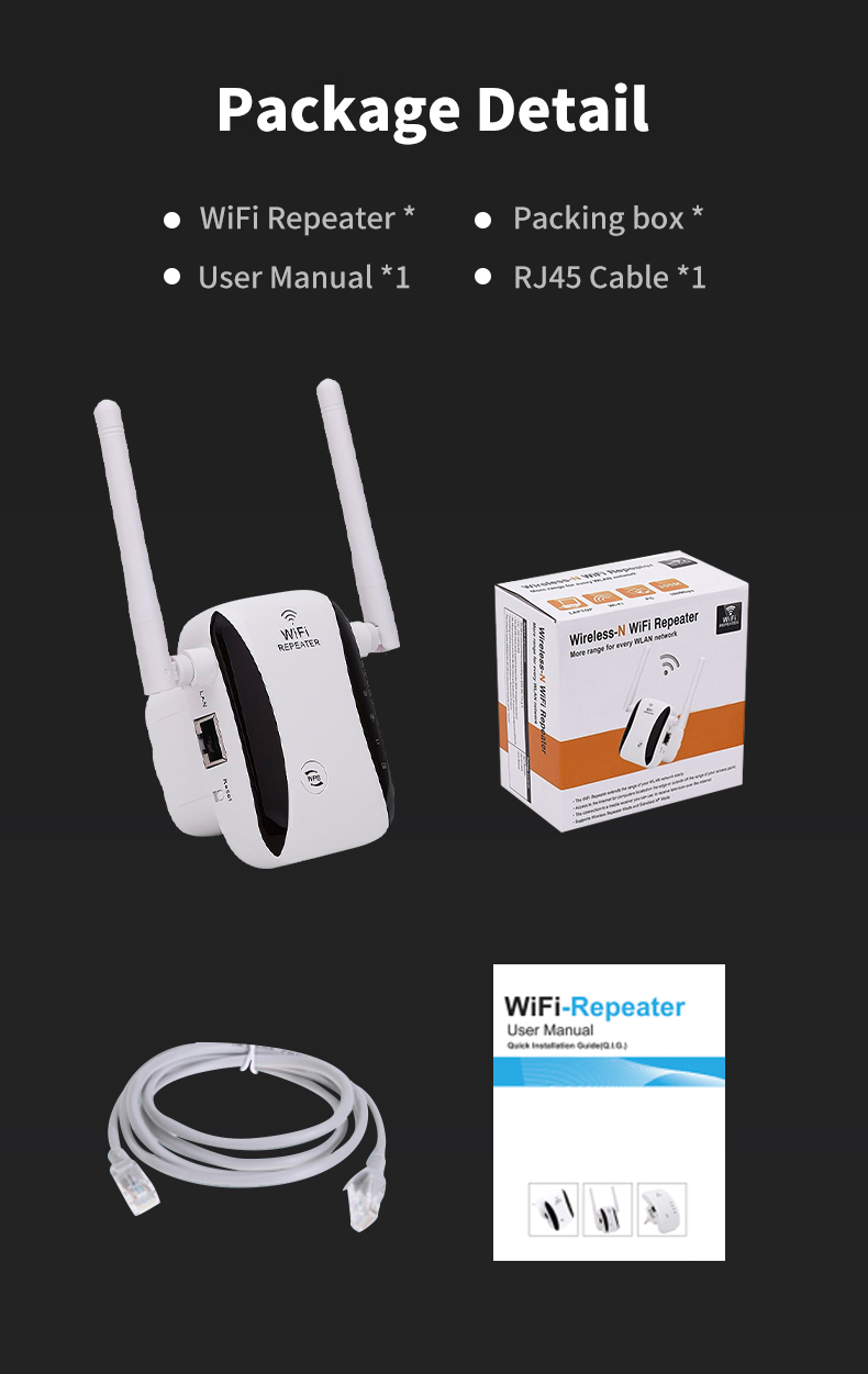 KP300 300Mbps 2.4G wifi booster supplier in China