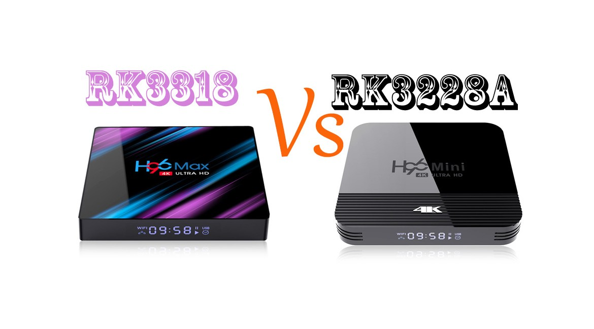 Rockchip android smart setup tv box RK3318 Vs RK3228a