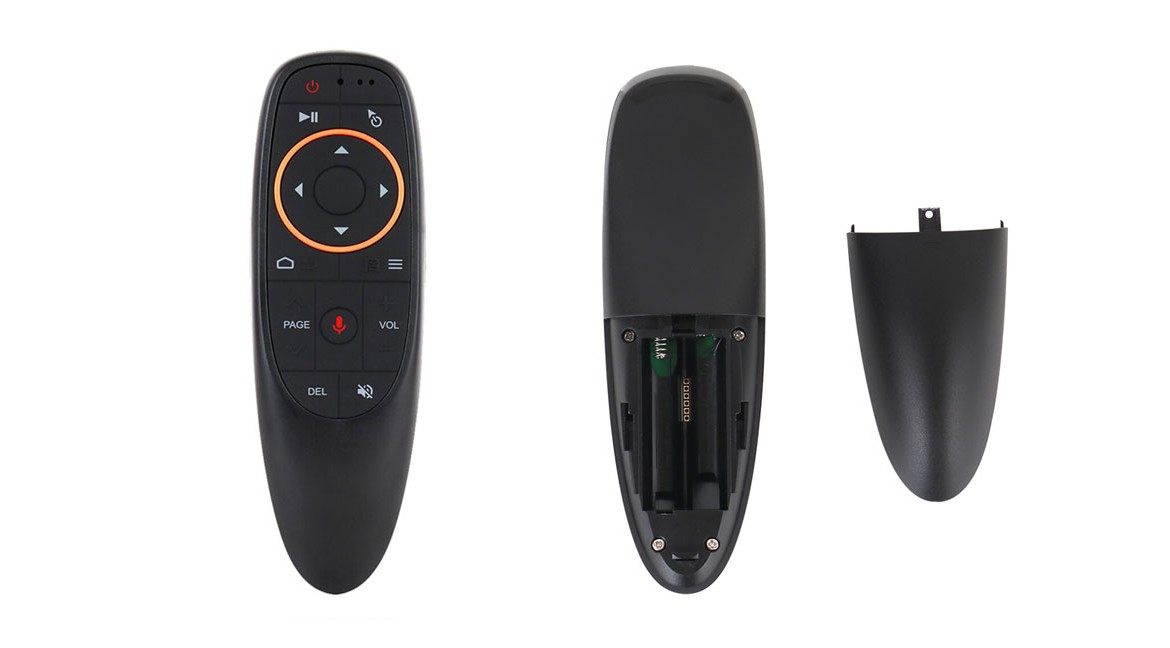 Review android tv box G10 Voice remote control